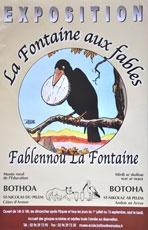 affiche exposition fontaine aux fables