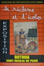 Affiche exposition la réclame et l'écolier