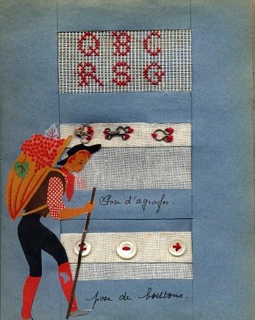 Cahier de couture 1952 (collection musée de l'école de bothoa)