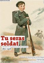 Affiche exposition musée école soldat