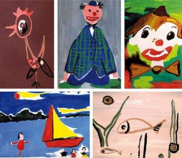 dessins d'enfants, musée de l'école